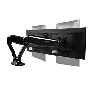 "Loctek D5D Dual Monitor Arm Desk Monitor Mounts Fits 10""-27"" Monitors, Gas Spring LCD Arm"