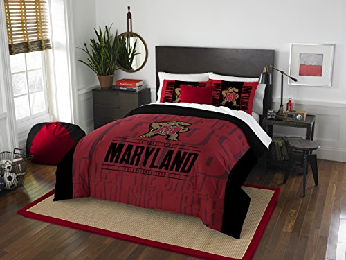 The Northwest Company Officially Licensed NCAA Maryland Terrapins Modern Take Full/Queen Comforter and 2 Sham Set