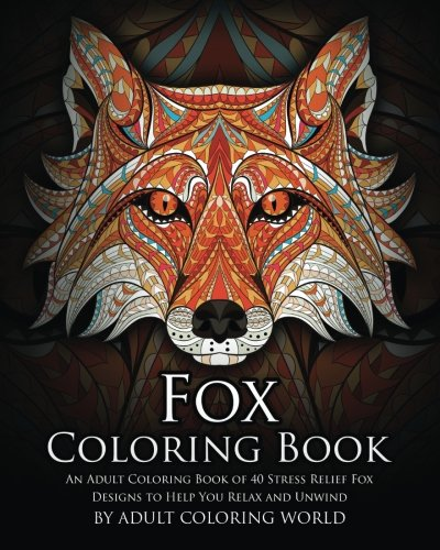 Fox Coloring Book Stress Designs product image
