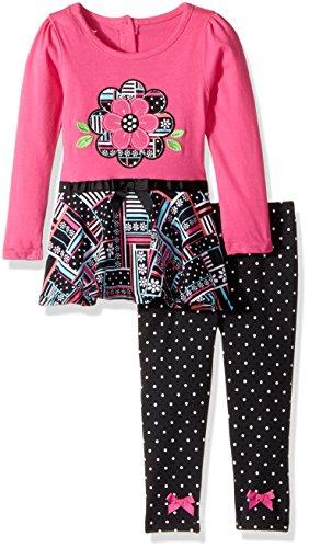Nannette Baby Girls Playwear Long Sleeve Top and Legging Set
