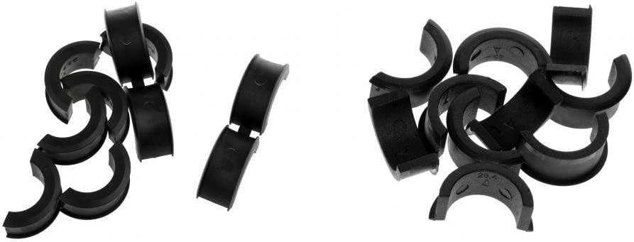 10 Pair Bike Bicycle Handlebar Clamp Shims Reducer Spacer Set 22.2//25.4mm Sturdy and Durable to Use