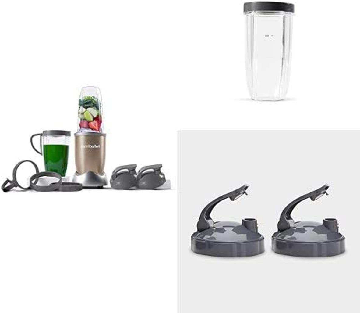 NutriBullet Pro Nutrient Extractor with 32oz Cup and Set of 2 To Go Lids