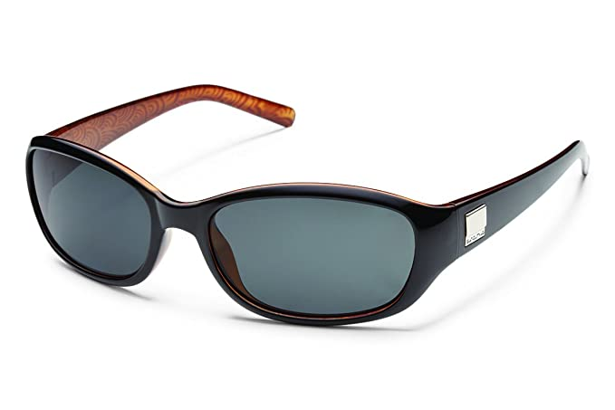 Suncloud Iris Polarized Sunglass with Polycarbonate Lens, Brown Tortoise Frame/Brown
