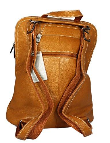 Bag Real Red Leather Messenger Italian 37cmx31cmx13cm amp; Moda Black Green Backpack Black Daniela Rucksack and SqZFH5