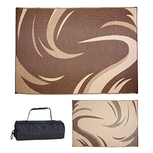Ming's Mark Inc. Brown/Tan 8'x 11' SD8117 Mat Graphic Swish 8 X 11