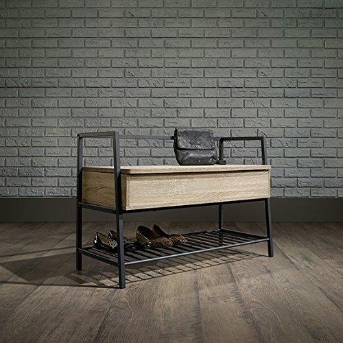 oak storage bench - 9