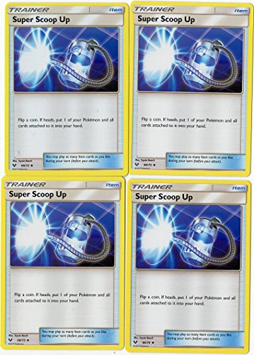 Super Scoop UP 124/147 - Sun Moon Burning Shadows - Trainer Card Set - x4 Card Lot (Playset) -