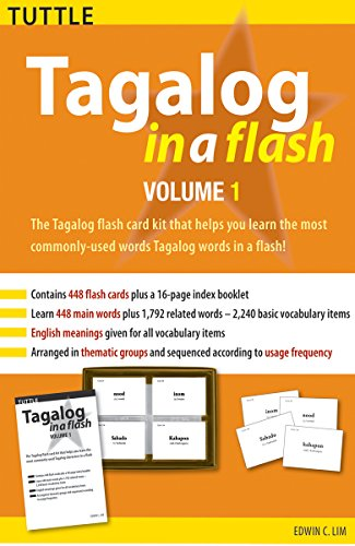 Tagalog in a Flash Kit Volume 1 (Tuttle Flash Cards) (Lounge Spelling)