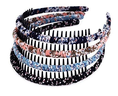STHUAHE4PC Multicolor Protection Resin Teeth Comb Hair Hoop Hairband Headband Hair Accessories by Beauty hair (4 Colors)