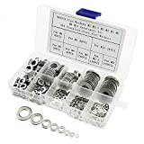 IZTOSS 500PCS Stainless Steel Flat Washers Assortment Kit for M2 M2.5 M3 M4 M5 M6 M8 M10 Screws Bolt
