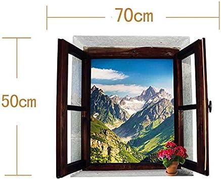 Wapel DIY Ventana Falsa Paisajes De Montaña Art Sticker Dormitorio ...