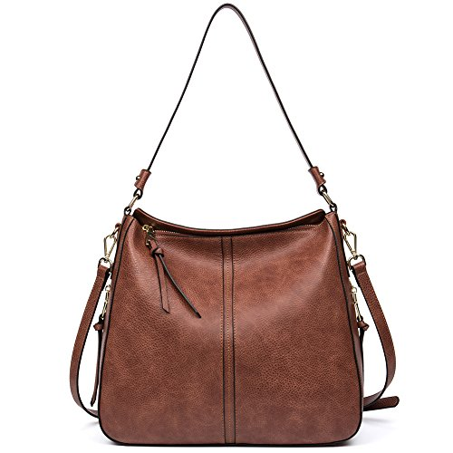 Clearance Sale CALLAGHAN Designer PU leather Handbag Purse Ladies Hobo Shoulder Tote Bag for Women's Top Handle Bag Large Brown