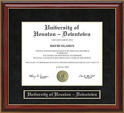 Amazon.com - University of Houston - Downtown Diploma Frame - Mahogany -