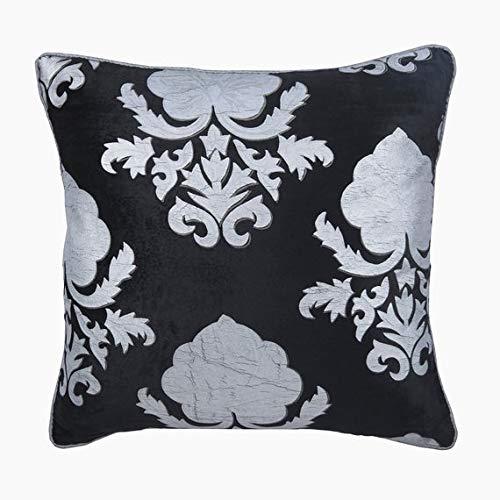 Funda de Almohada Decorativa Negro Terciopelo Negro con ...