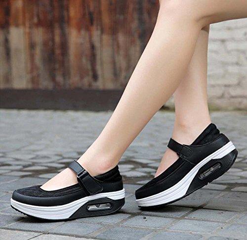da ad a Scarpe da aria Scarpe Nero casual Cuscino scarpe SHINIK superficiale infermiera ginnastica donna scuotere bocca traspiranti da Scarpe a sportive Casual Scarpe molle TwW8P7qA