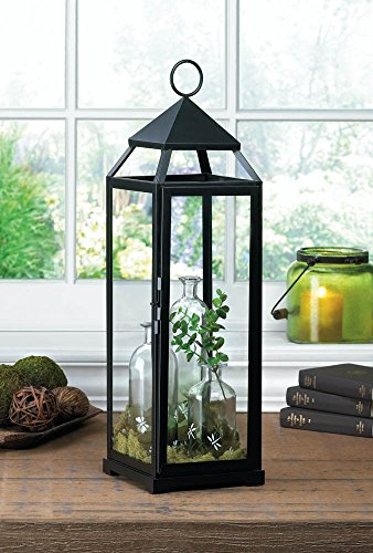 Extra Tall Black Contemporary Lantern -