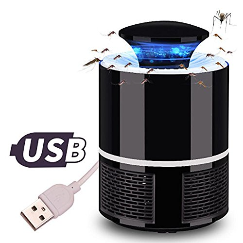 Aolvo Bug Zapper, Electronic Mosquito Repellent Trap Lamp for Kids, USB LED Indoor Fly Insert Pest Zapper Catcher Trap Repeller Lantern for Camping Travel Home Garden Yard(2018 Upgraded) - Black by Aolvo