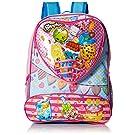 Shopkins Girls' 16 Inch Backpack Heart Shaped Pocket, Pink, No Size