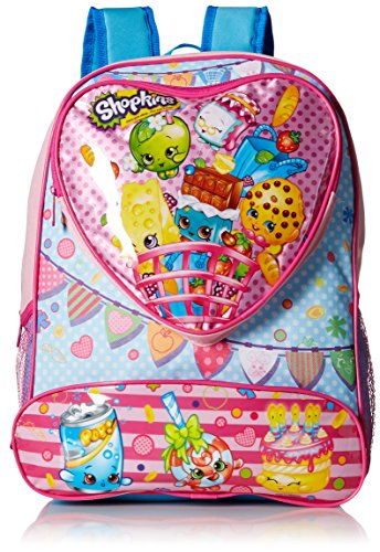 Shopkins Girls' 16 Inch Backpack Heart Shaped Pocket, Pink, No Size (Queen Of Hearts Shoes)