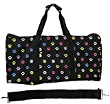 22 Inch Carry On Duffel Bag | Gym or Dance Bag by Unique Traveler (Multicolor Paw Print)
