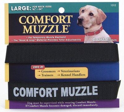 - Coastal Pet Products DCP1312 Dog Comfort Muzzle, Large, Black
