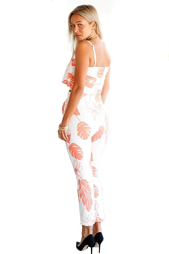 7e34eef7018 Cloe Valentine Women s Floral Print Jumpsuit(CV LC62056-14