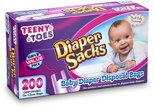 Teeny Toes Baby Disposable Diaper Sacks, 200 Count