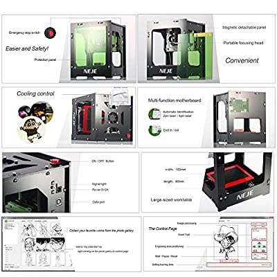 Smileyyi Upgrade NEJE 1000mW Cnc Laser Cutter Mini Laser Engraving Machine DIY Print 3D Engraver High Speed