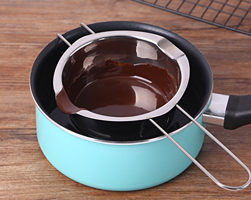 Tebery 2 Pack Stainless Steel Universal Double Boiler, Baking Tools, Melting Pot for Butter Chocolate Cheese Caramel Bonus 1 Plastic Scraper by Tebery (Image #5)
