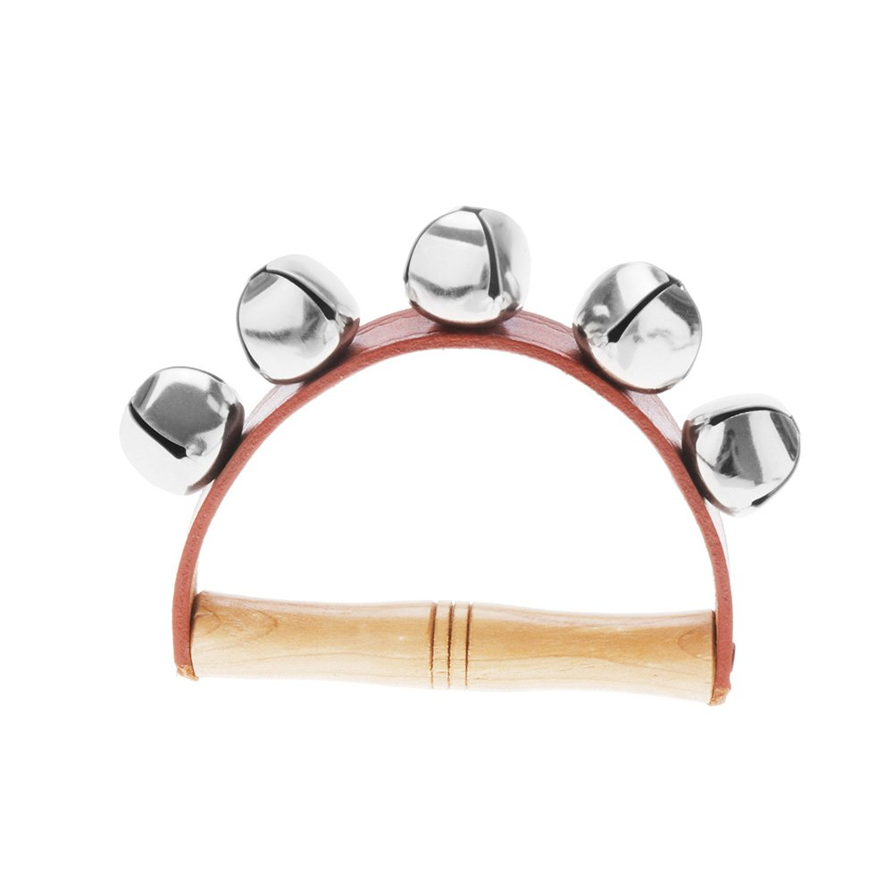 Andoer Tambourine Handbell Baby Kid Child Early Educational Musical Instrument Rhythm Beats Shaking Small Jingle Bell Toy Tool