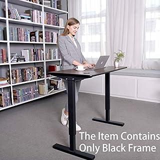 Smile Back Height Adjustable Standing Desk Frame,Sit Stand Desk Frame, Manual Crank Desk Frame, Ergonomic Workstation, Conversion Kit,No Table top