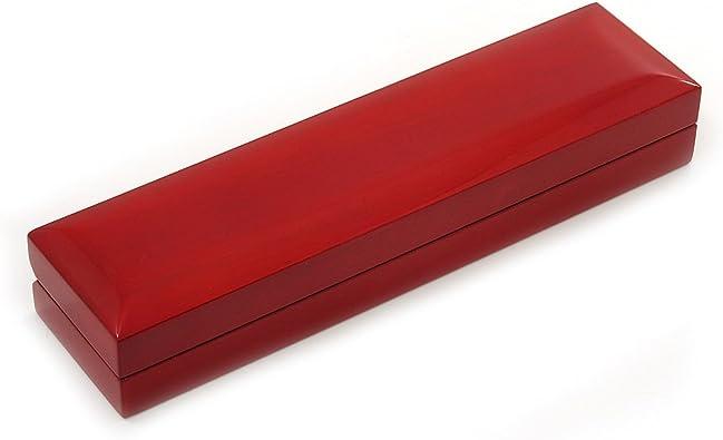 Color rojo cereza con caja de madera para pulseras: Amazon.es: Joyería