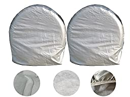 Wheel Tire Covers Pair Heavy for RV Auto Truck Van Car Camper Trailer Protect (For 27\