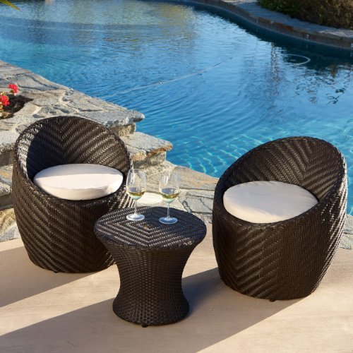 Morocco 3pcs Outdoor Seating Chat Set W/ Cushions
