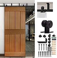 CCJH 8FT-244cm Techo Montado Herraje para Puerta Corredera Kit de Accesorios para Puertas Correderas Rueda Riel Juego para Una Puerta de Madera: Amazon.es: Bricolaje y herramientas