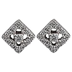 Verona Women's White Gold 18K Diamond Stud Earring