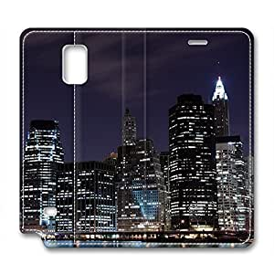 Night Scene Design High Quality Leather Case for Samsung Note 4 Moon wangjiang maoyi