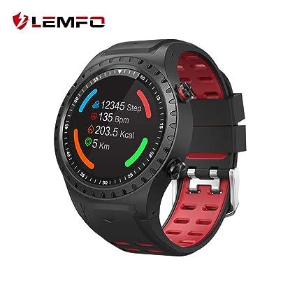 LEMFO - Reloj de Pulsera para Hombre (IP67, Resistente al Agua, con Tarjeta