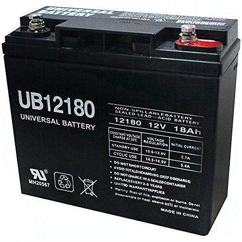 Universal Power Group UB12180 12V 18AH SLA Internal Thread Battery for Generac 7500 EXL Generator by Universal Power Group