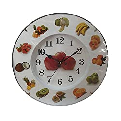Creative Motion Clock with Various Fruits Around The Clock