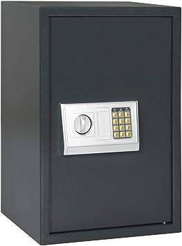 vidaXL Caja Fuerte Digital Depósito Baúl Arcón Seguridad Protección Llaves Emergencia Código Clave Estante Acero Gris Oscuro 40x35x60 cm: Amazon.es: Bricolaje y herramientas
