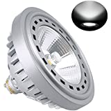 Bonlux 12W LED GU10 AR111 240V 2700K Luz Fría 24 Grados Reemplazo del Cree COB LED GU10 ES111 lámpara Halógena de 75W