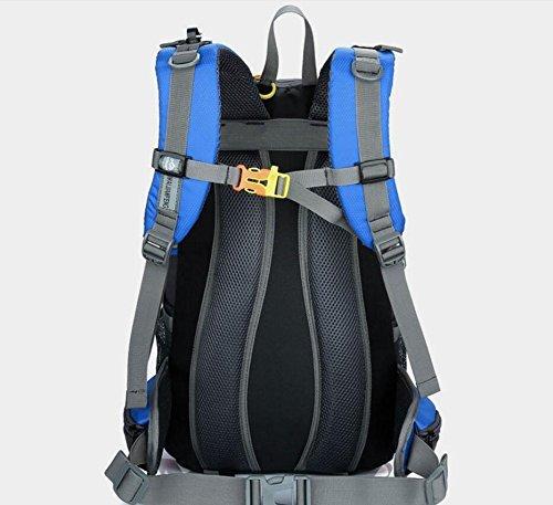 lqabwoutdoor Wild Camp Paket Professionelle Bergsteigen Casual Backpack Paar Tasche, Himmelblau