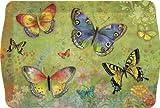 Butterfly Garden Melamine Plastic Handled Serving Tray