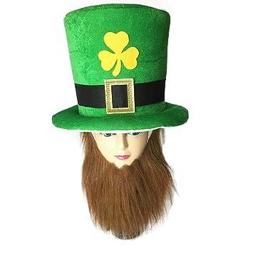 SCYTSD Sombrero De Leprechaun, Verde, con La Decoración del ...