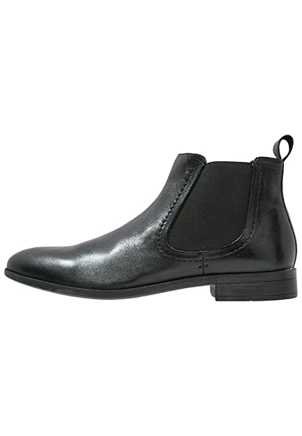 e5237bcf1080 Pier One Mens Leather Chelsea Boots in Glossy Black