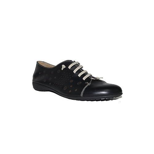 New Design - Mocassín Cordones Desing 4311 Zapatos Mocasines de Mujer Piel Negros Cómodos Casuales Clásicos: Amazon.es: Zapatos y complementos