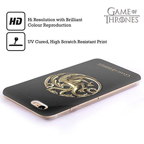 Officiel HBO Game Of Thrones Or Targaryen Symboles Étui Coque en Gel molle pour Apple iPhone 6 / 6s