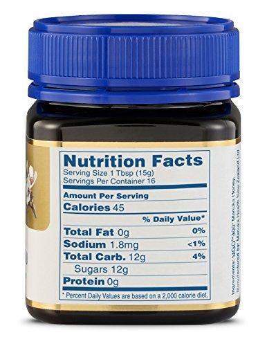 Nutrition facts - manuka honey