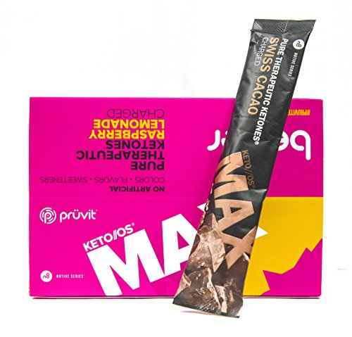 Pruvit KETO OS MAX Raspberry Lemonade Charged 20 Pack w/ 1 Swiss Cacao Charged Packet by Pruvit